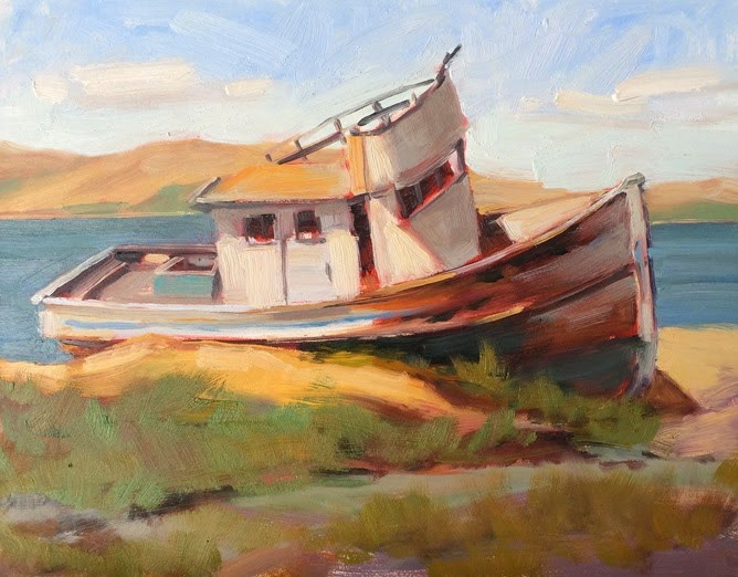 """Old Point Reyes"" original fine art by Deborah Newman"