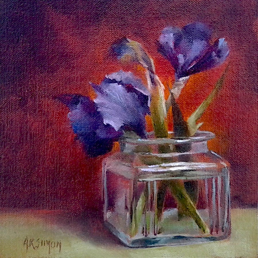 """Clearly Iris"" original fine art by A.K. Simon"