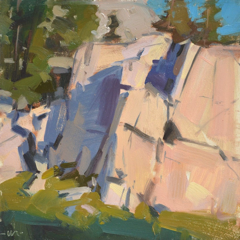 """Rocks in the Morning"" original fine art by Carol Marine"