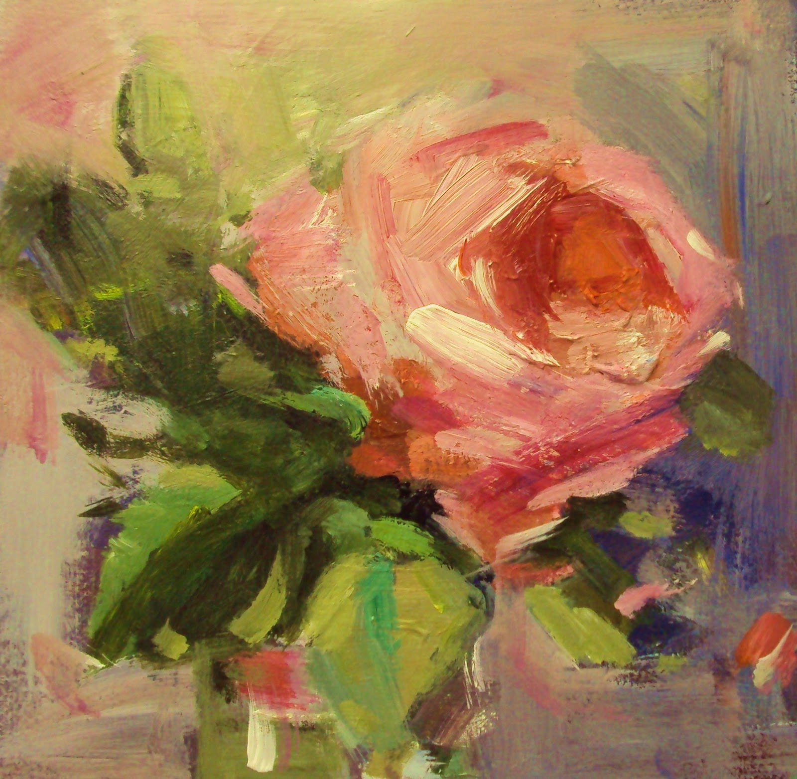 """rose study"" original fine art by Parastoo Ganjei"