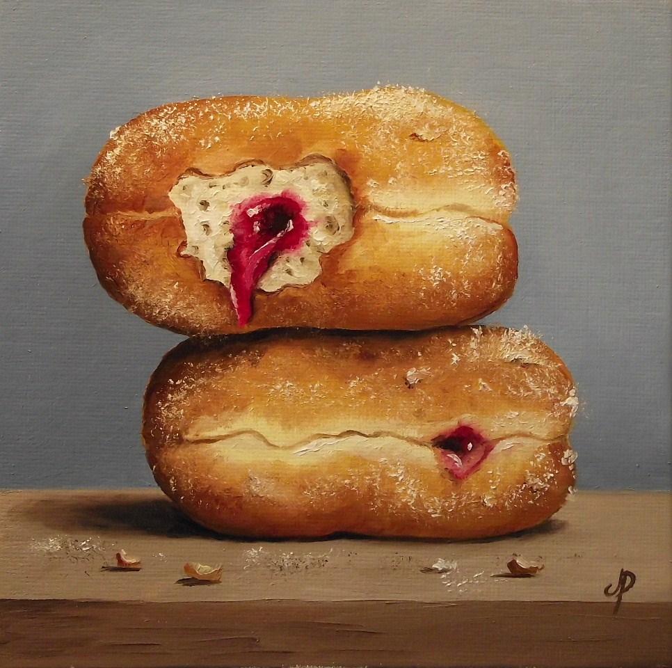 """Jam Doughnuts #2"" original fine art by Jane Palmer"