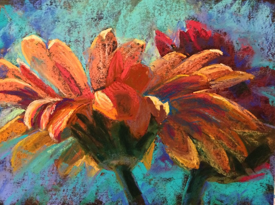 """Petal Pusher"" original fine art by karen israel"
