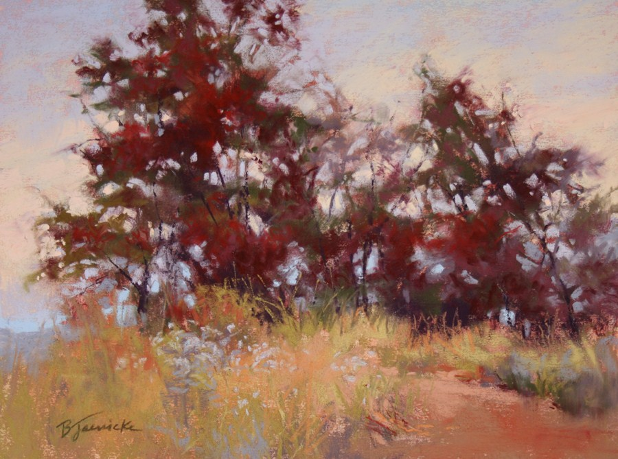 """Mountaintop Trees"" original fine art by Barbara Jaenicke"