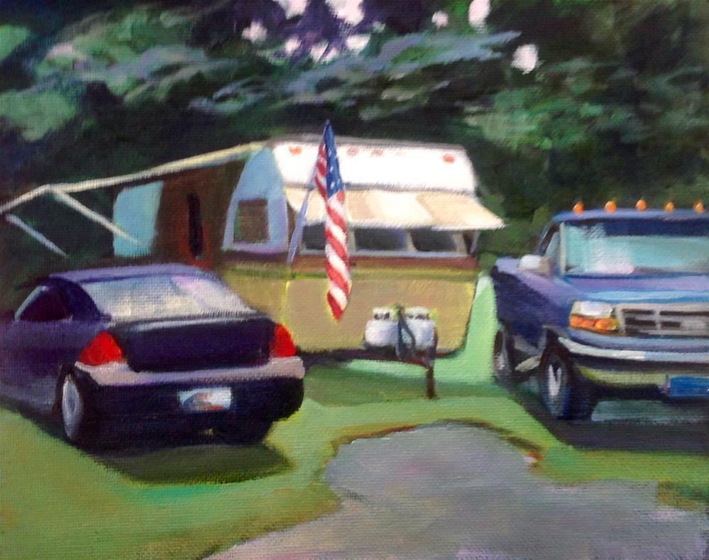 """Campground"" original fine art by Susan Suraci"
