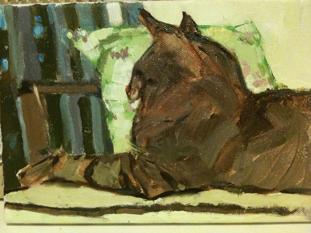 """Sampson"" original fine art by Carole A. Ball"