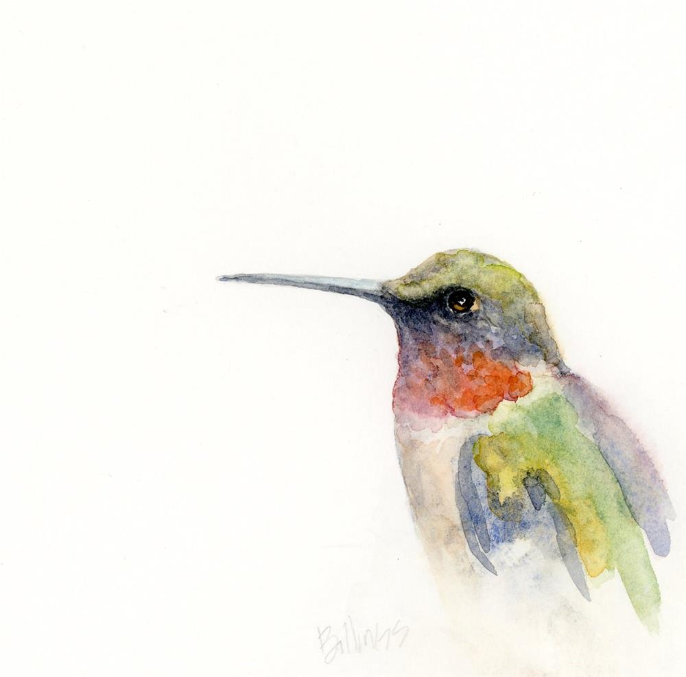 """Hummingbird Study V"" original fine art by Susanne Billings"
