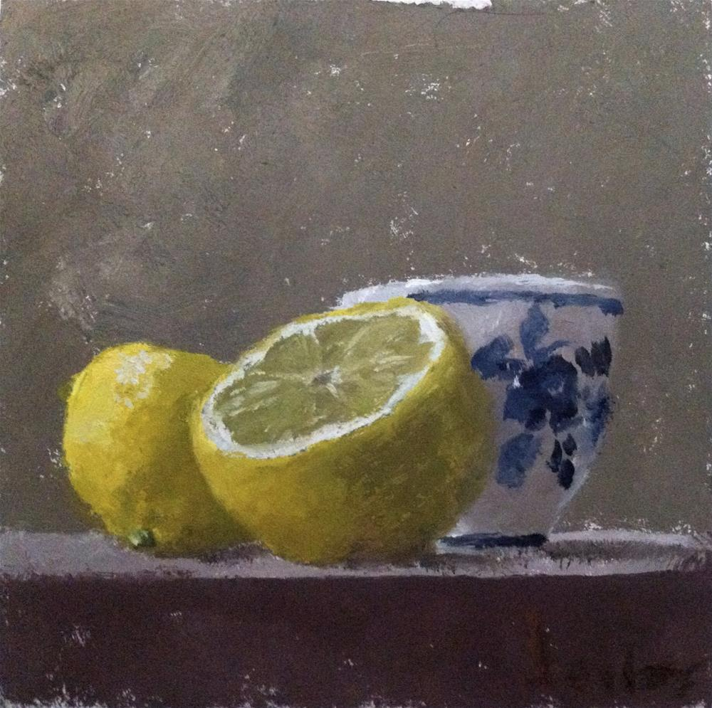 """Still Life with Lemons"" original fine art by Richard Jones"