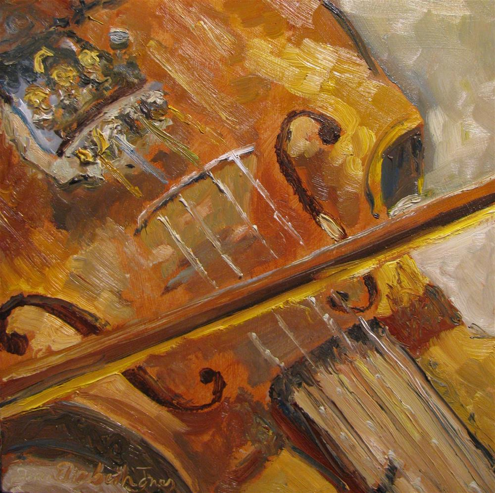"""""""Secondhand Violin"""" original fine art by Susan Elizabeth Jones"""