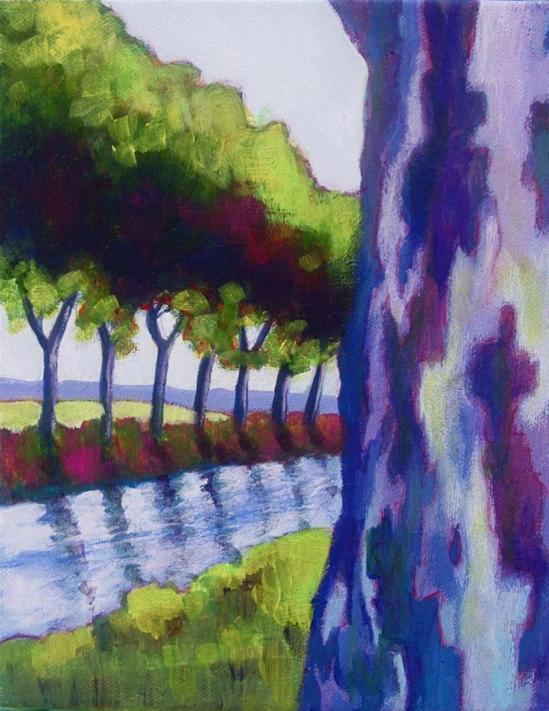 """Platanes Along the Canal"" original fine art by Patricia MacDonald"