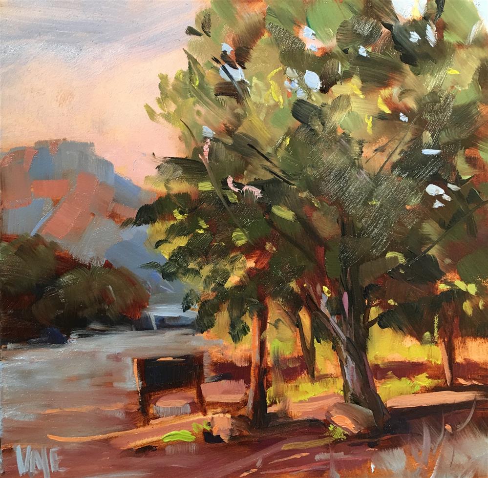 """#314 Park Closing Time"" original fine art by Patty Voje"