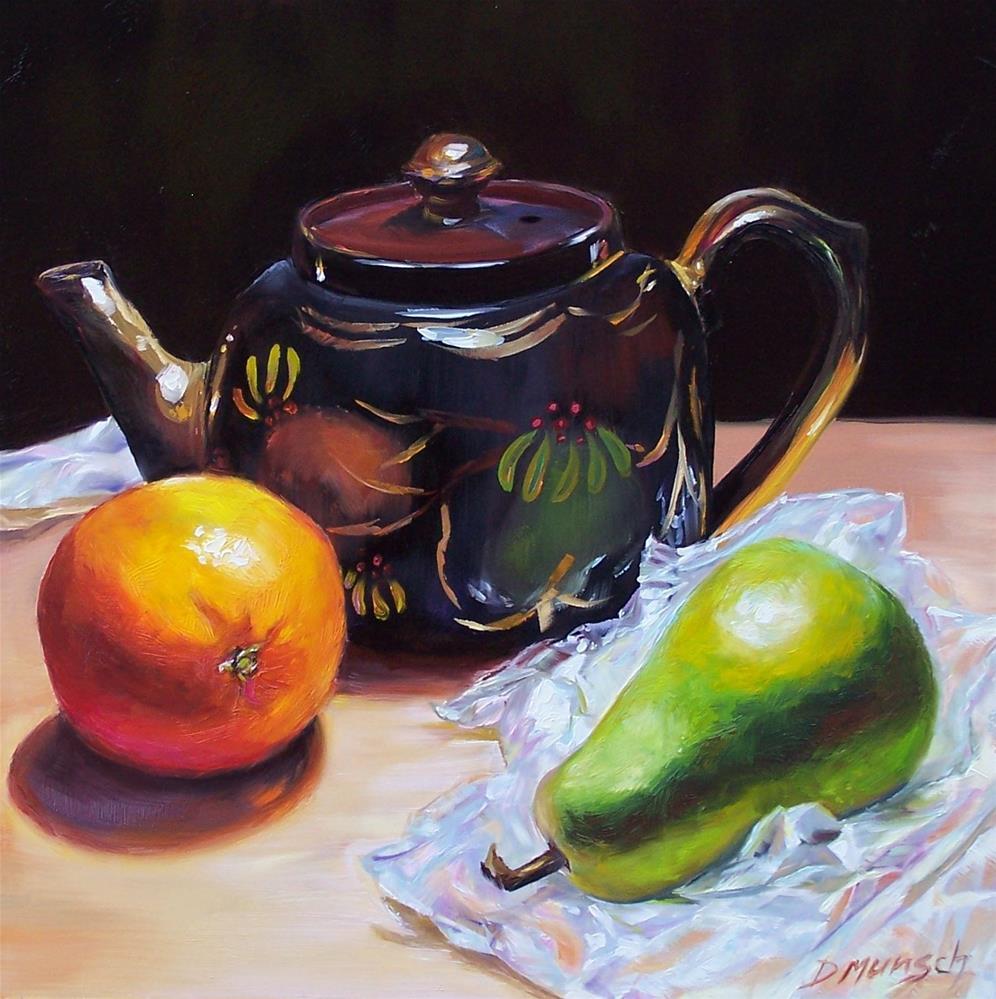 """""""Colleen's Teapot"""" original fine art by Donna Munsch"""