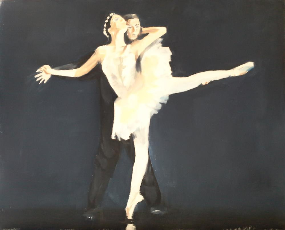 """Ballet Dancers"" original fine art by James Coates"