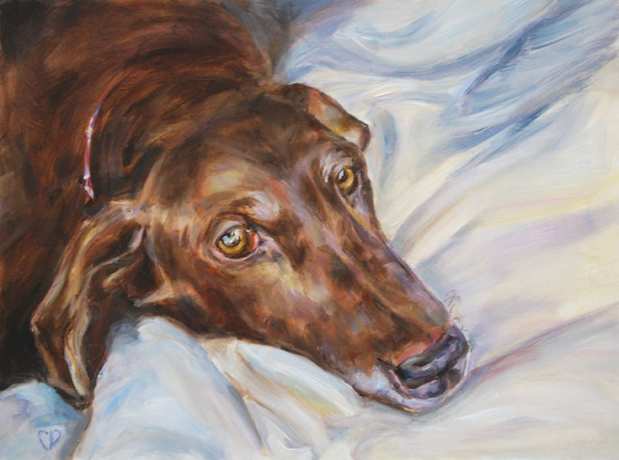 """Dexter"" original fine art by Carol DeMumbrum"