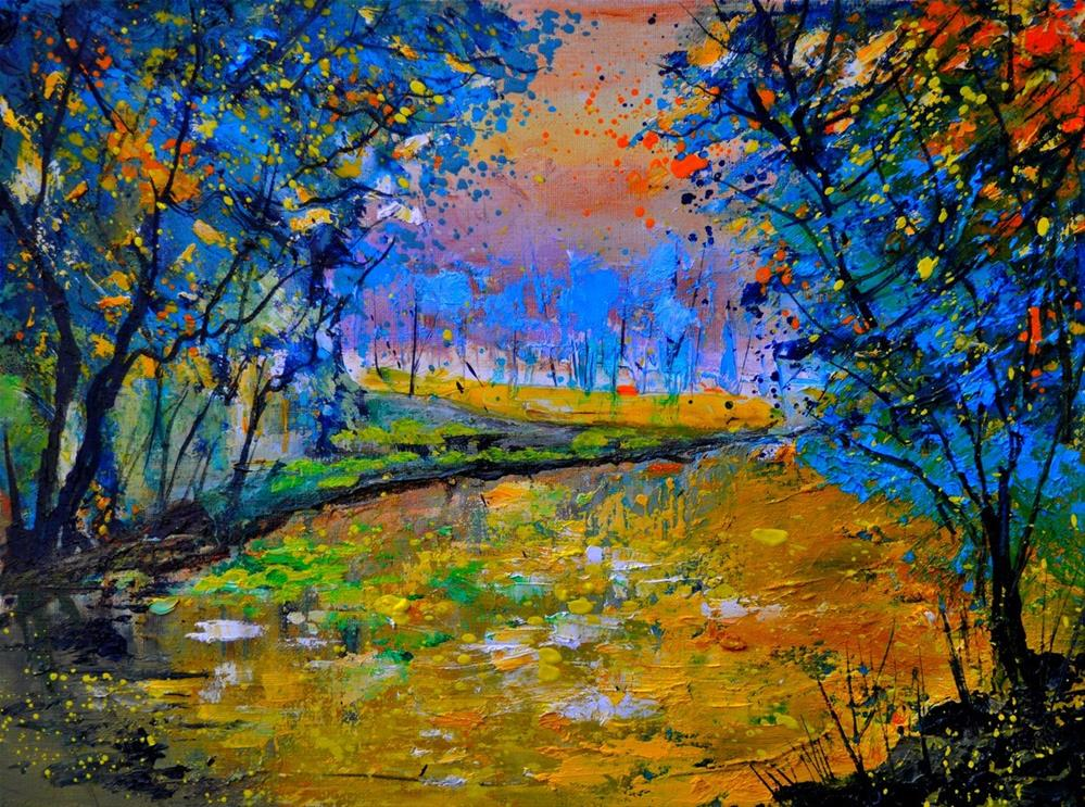 """Pond 3040"" original fine art by Pol Ledent"
