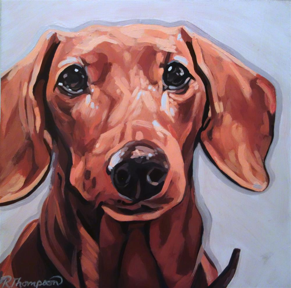 """""""Lucy - Day 2, Reserved"""" original fine art by Rachel Thompson"""