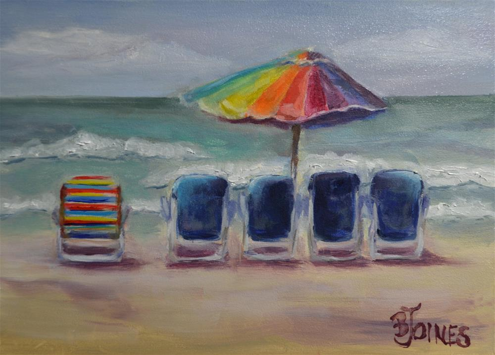"""Odd Chair Out"" original fine art by Barbara Gillis Joines"