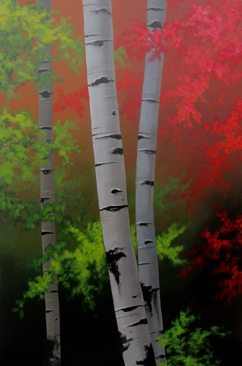 """Autumn Dusk"" original fine art by ~ces~ Christine E. S. Code"