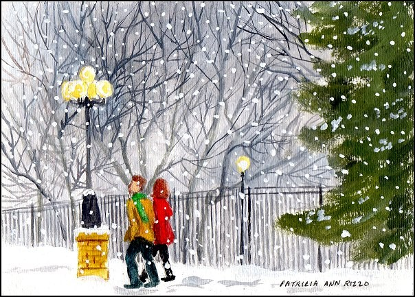 """Winter Wonderland"" original fine art by Patricia Ann Rizzo"