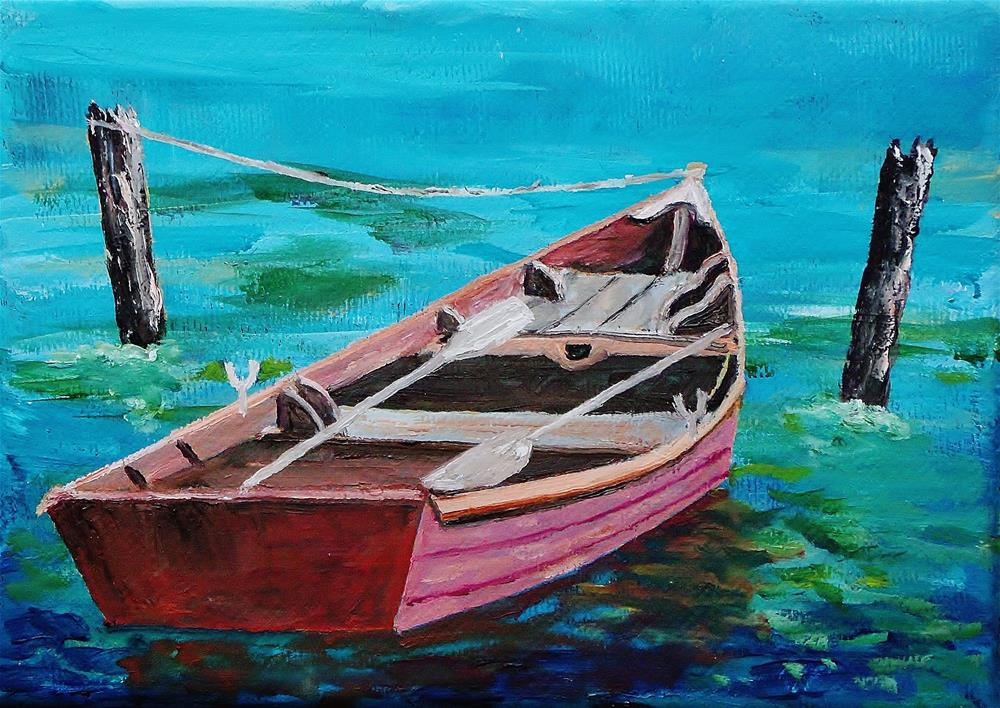 """row your boat"" original fine art by Mike Caitham"