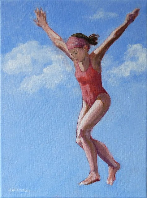 """Leaping Into July"" original fine art by Helene Adamson"