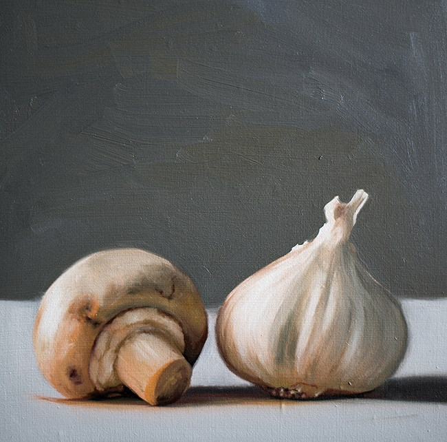 """Mushroom and Garlic"" original fine art by Lauren Pretorius"