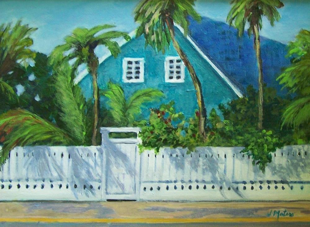 """""""Key West House"""" original fine art by Joan Matero"""