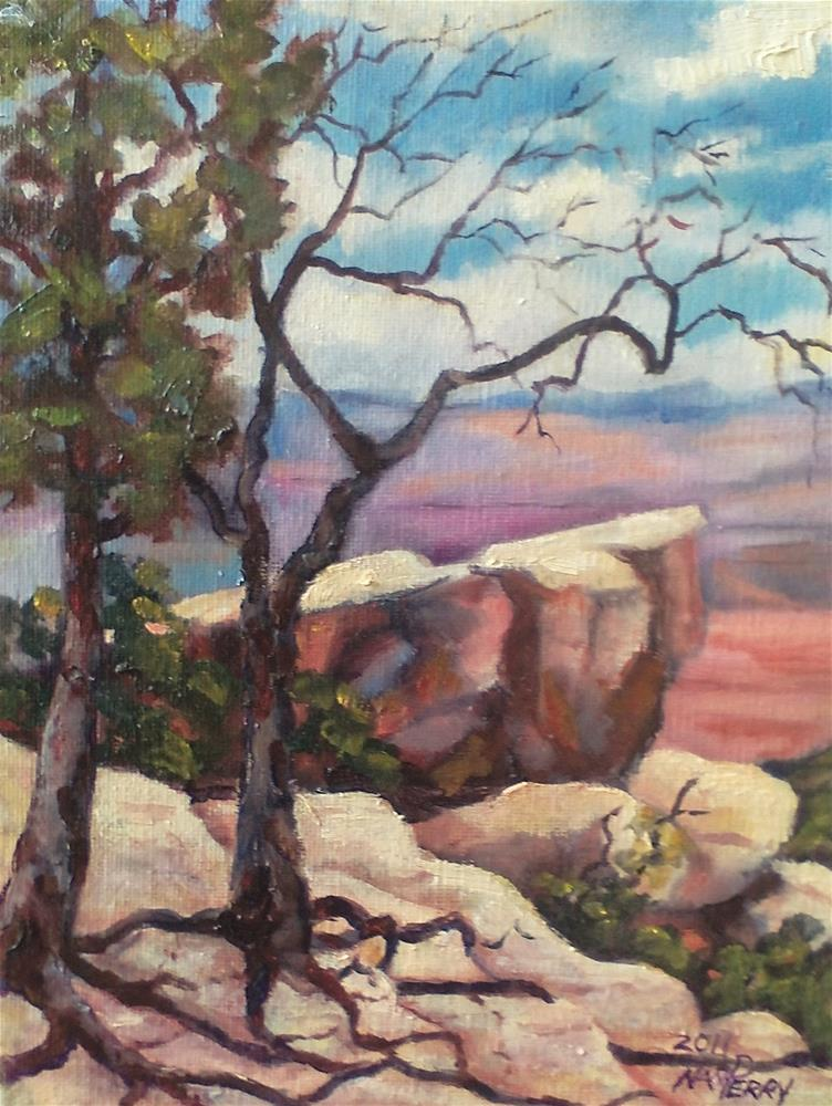 """Canyon Rim"" original fine art by Nan Perry"