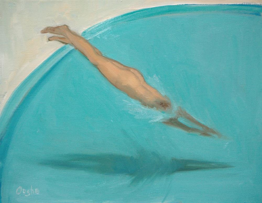 """Nude Diver"" original fine art by Angela Ooghe"