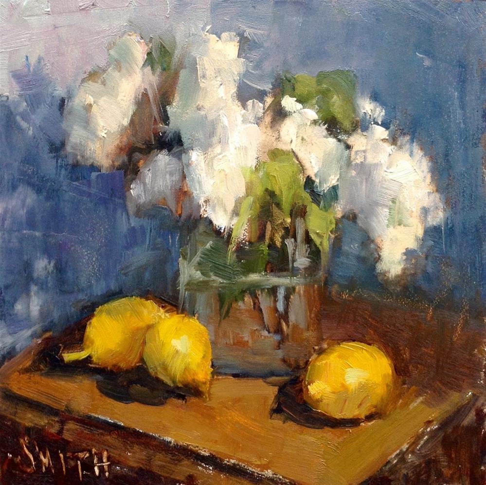 """Lilacs and Lemons"" original fine art by Barbie Smith"