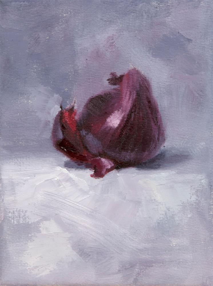 """Red Onion"" original fine art by Johan Derycke"