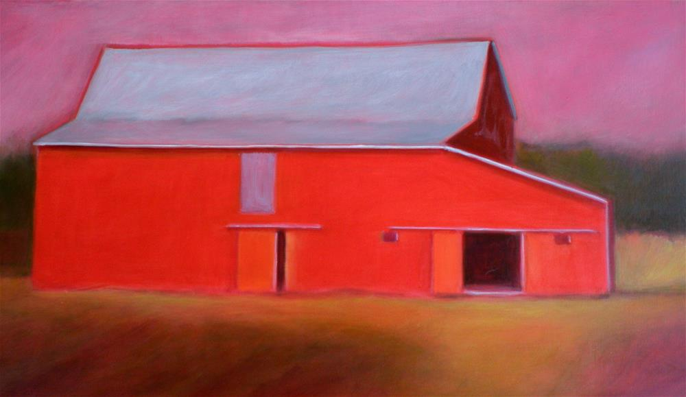 """Proud Red Barn"" original fine art by Almira Hill Grammer"