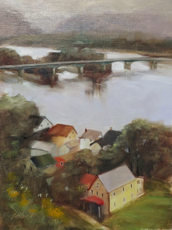 """Susquehanna Mystery"" original fine art by Beth Bathe"