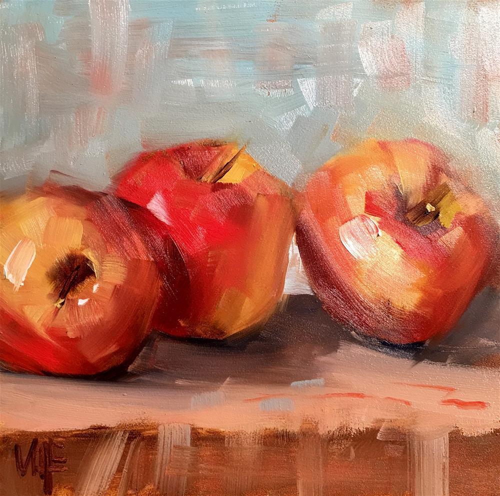 """""""#350 Eugenie's Apples"""" original fine art by Patty Voje"""