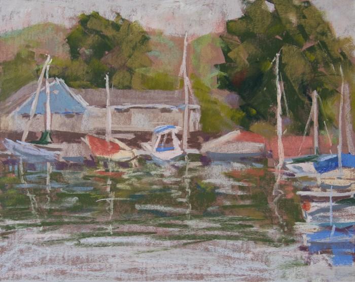 """""""Oceanside Harbor"""" original fine art by Randall Smith"""