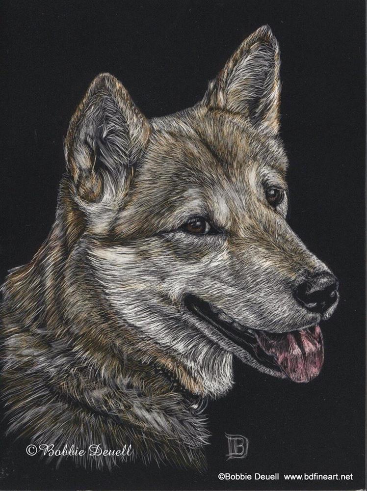 """""""#14 Sweet Puppy"""" original fine art by Bobbie Deuell"""