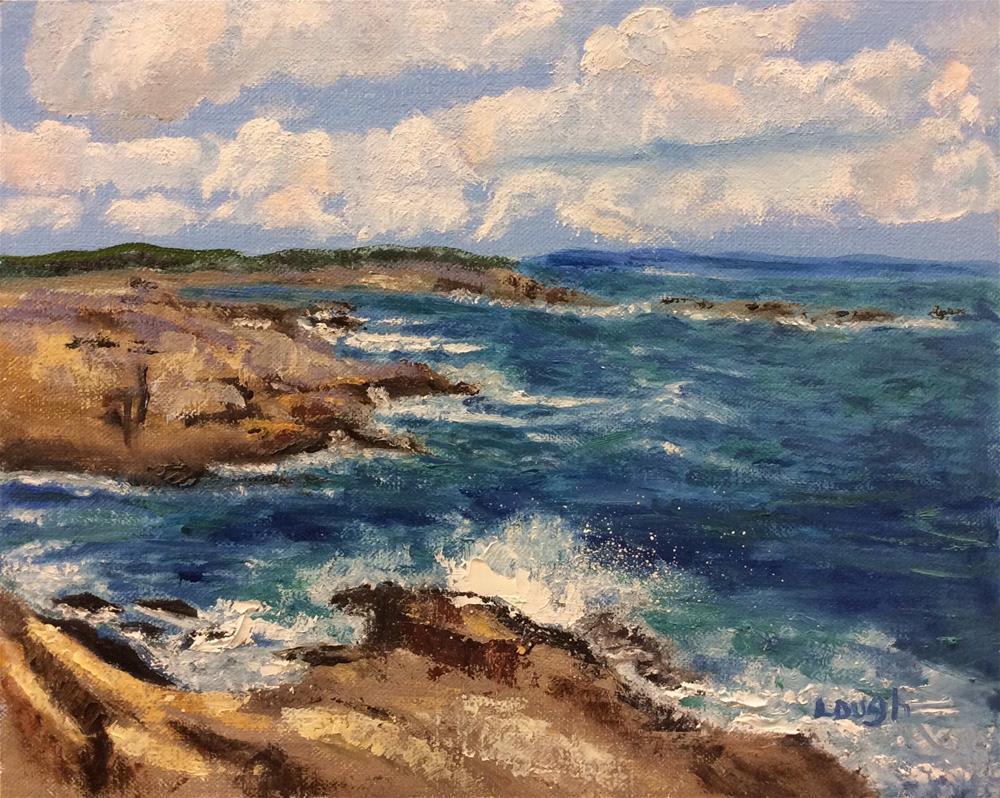 """New England Coast"" original fine art by Charlotte Lough"