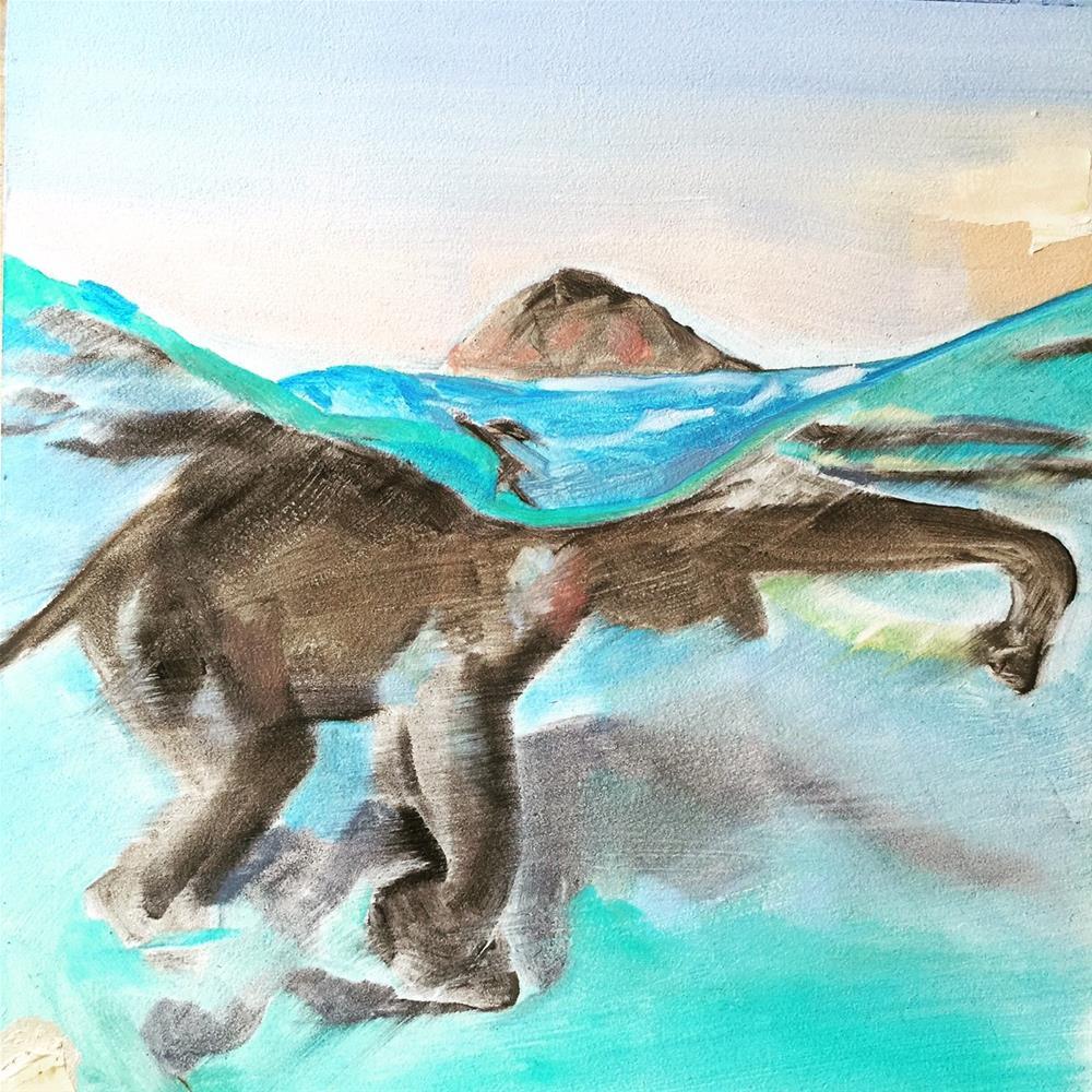 """""""181 Elephant"""" original fine art by Jenny Doh"""