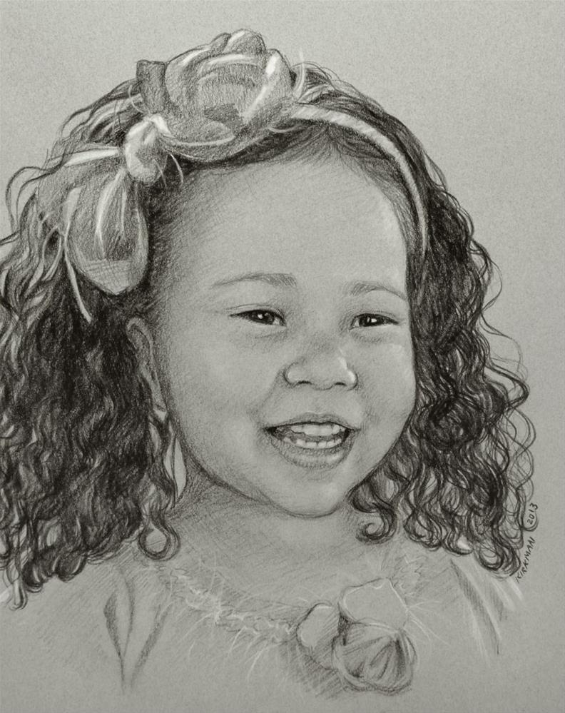 """8x10 Commissioned Pencil Portrait"" original fine art by Rita Kirkman"