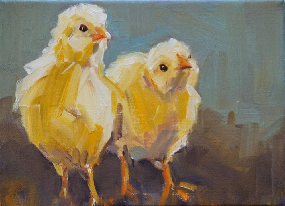"""peeps"" original fine art by Carol Carmichael"