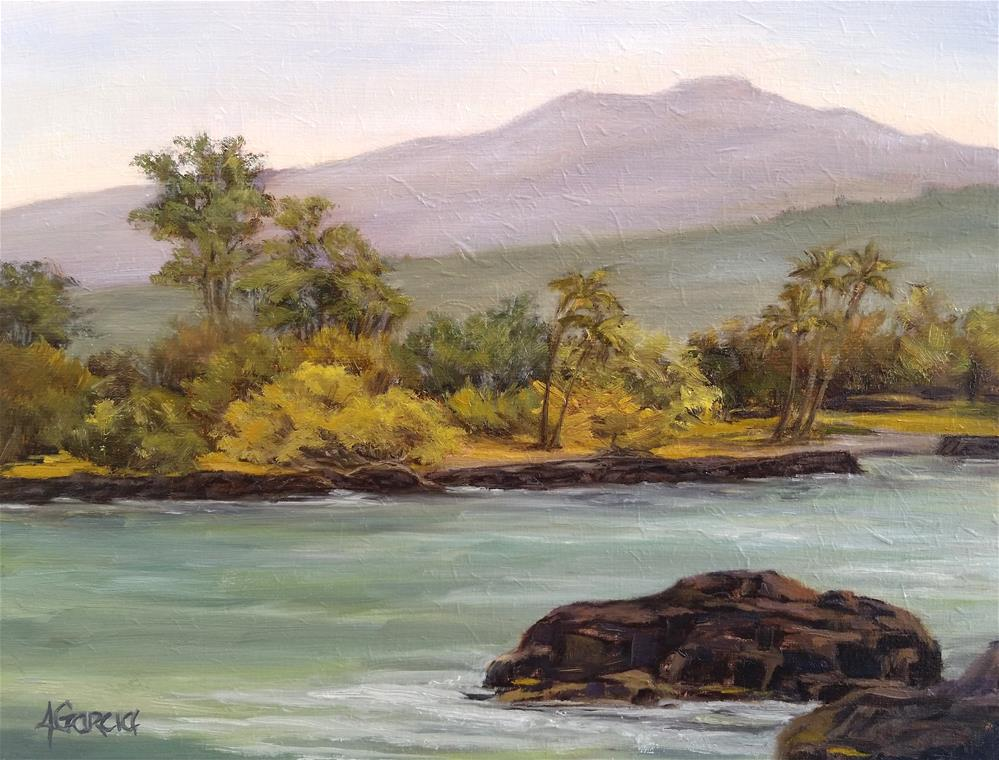 """Keauhou Bay"" original fine art by Jeannie Garcia"