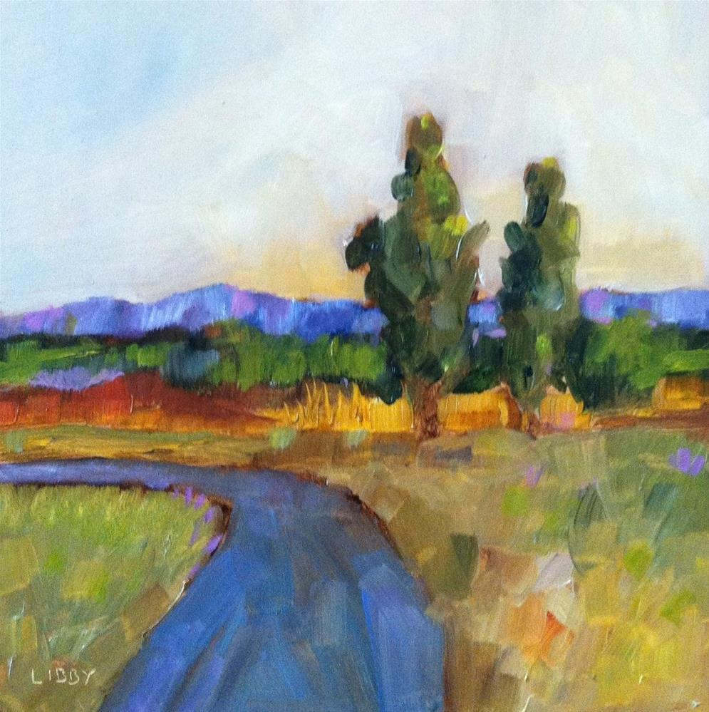 """Road to Tuscany"" original fine art by Libby Anderson"