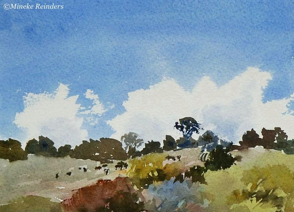 """Summer in the field"" original fine art by Mineke Reinders"