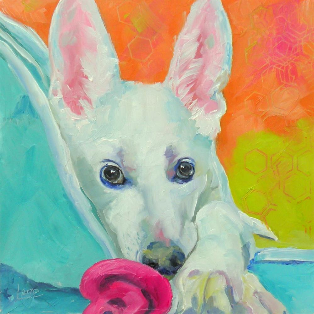 """SWEETIE PIE 90/101 OF 101 PET PORTRAITS IN 101 DAYS © SAUNDRA LANE GALLOWAY"" original fine art by Saundra Lane Galloway"