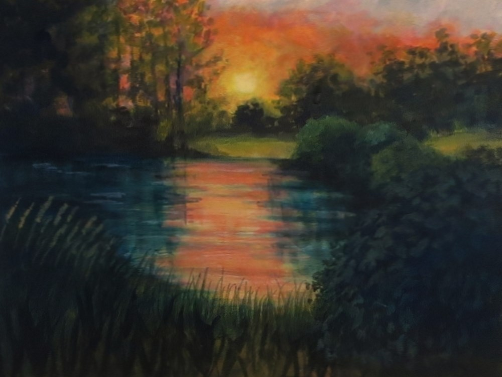 """Color My World - Sunset (half price)"" original fine art by Elizabeth Elgin"