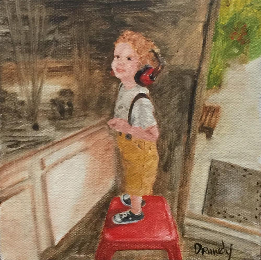 """Boy With Headphones"" original fine art by Stephanie Drawdy"