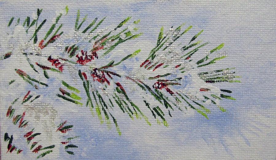 """""""Snow Pine"""" original fine art by Nan Johnson"""