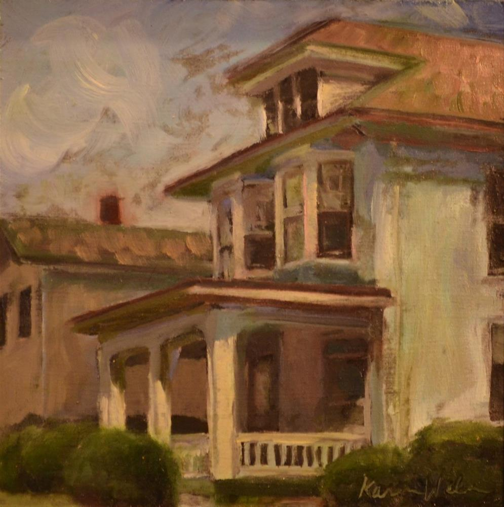 """""""White House in Fleetwood"""" original fine art by Karen Weber"""
