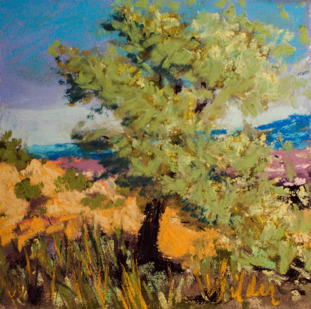 """Tree on the Mountain Side"" original fine art by Judy Wilder Dalton"