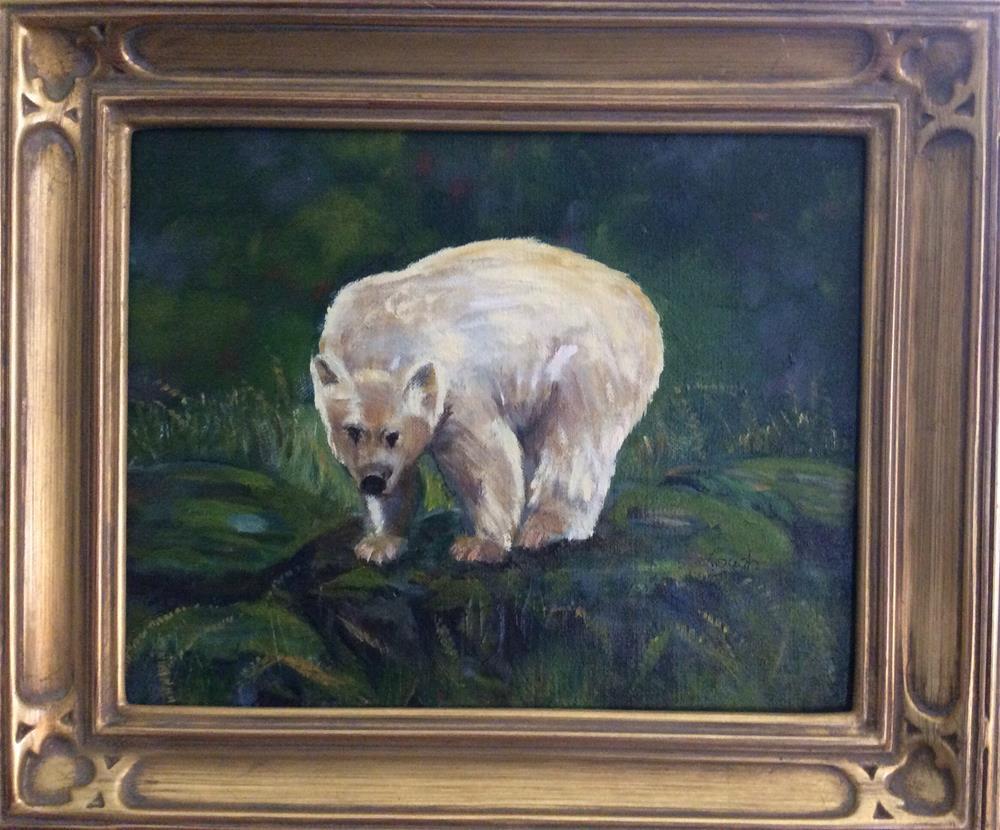 """Spirit Bear"" original fine art by Charlotte Lough"