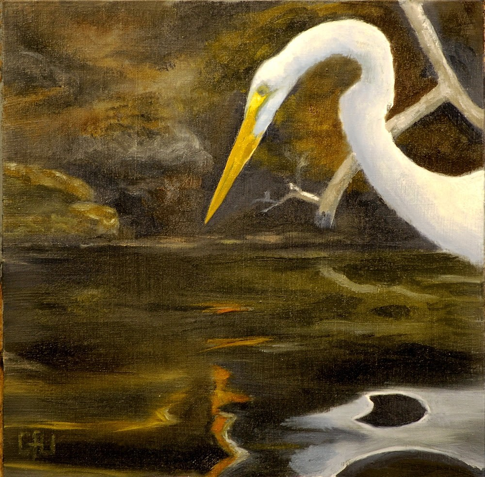 """Fishing Bird"" original fine art by Gary Westlake"